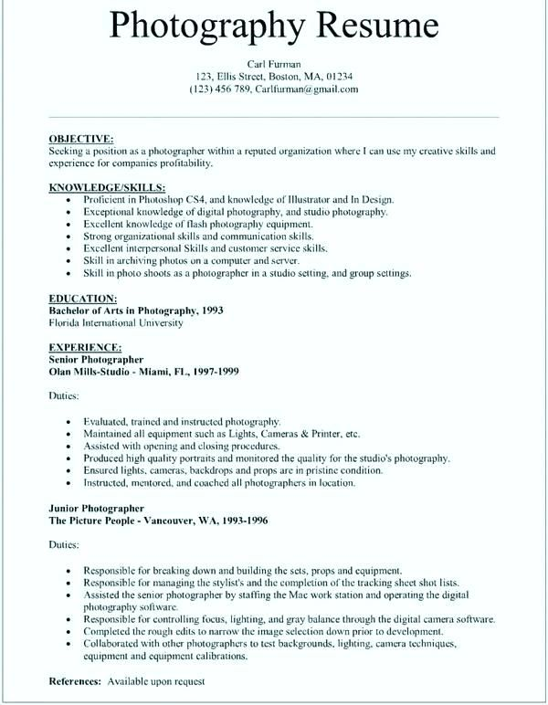 freelance photographer resume sample inspirational grapher example education quotes for Resume Skills For Photographer Resume