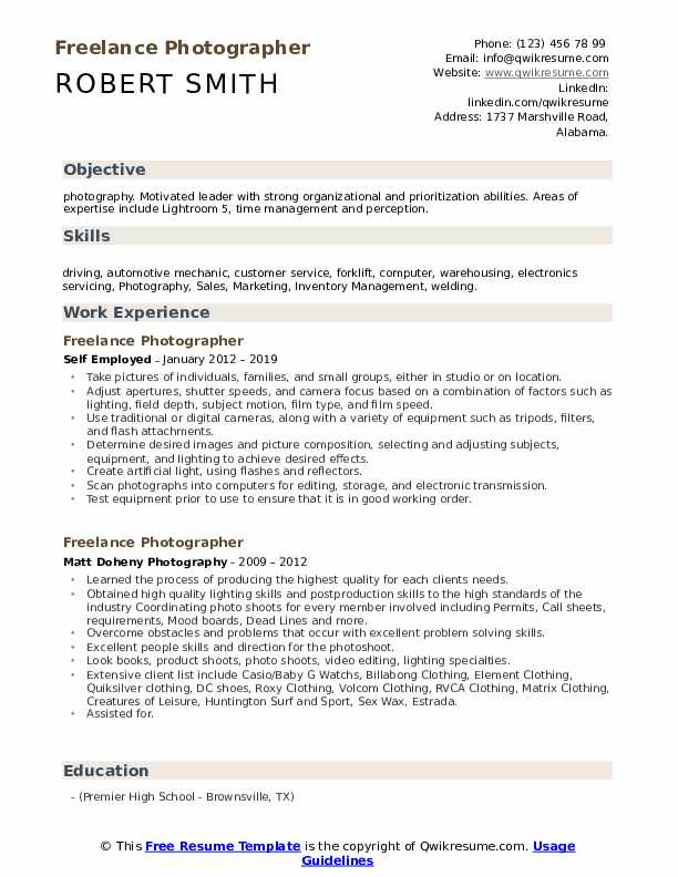 freelance photographer resume samples qwikresume pdf journalist sample first job out of Resume Freelance Photographer Resume