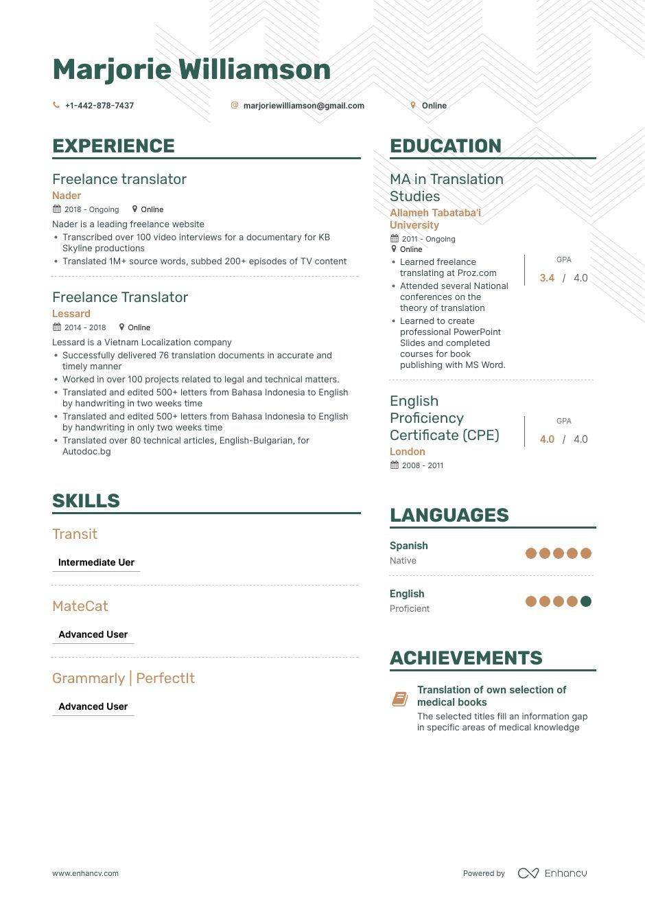 freelance translator resume example and guide for examples sample lactation consultant Resume Freelance Translator Resume Sample