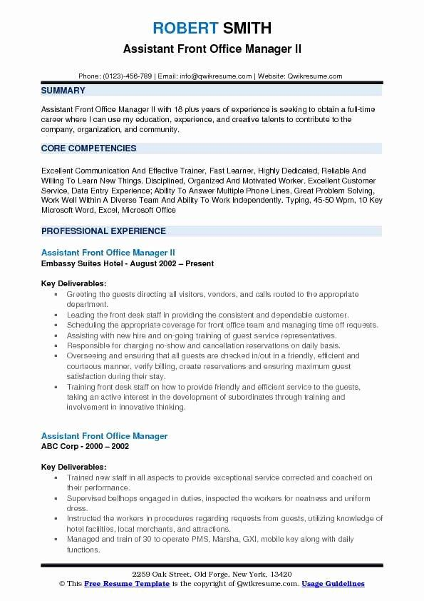 front desk manager resume lovely assistant samples human resources examples staff the Resume Front Desk Staff Resume