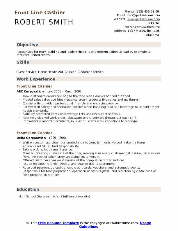 front line cashier resume samples qwikresume high school pdf digital content writer Resume High School Cashier Resume