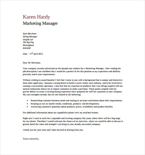 general cover letter templates pdf free premium resume generic marketing manager Resume Resume Cover Letter Generic