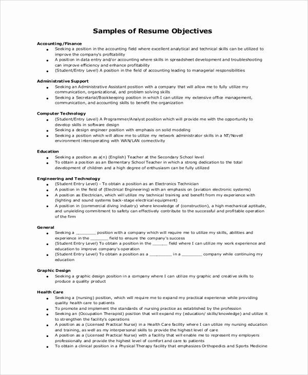 generic objective for resume inspirational example samples in word pd statement examples Resume General Resume Objective Statements