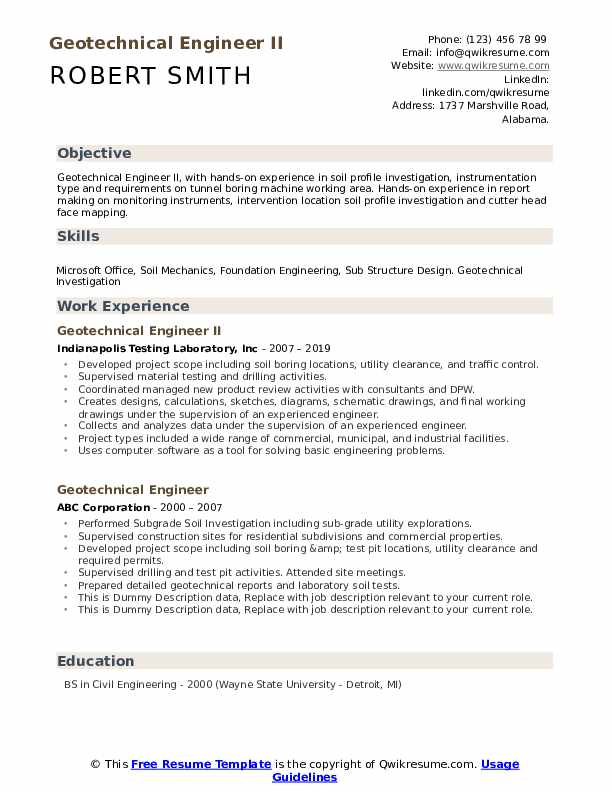 geotechnical engineer resume samples qwikresume hands on experience pdf best recruitment Resume Resume Hands On Experience