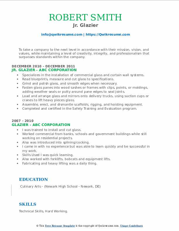 glazier resume samples qwikresume examples pdf business process management objective for Resume Glazier Resume Examples