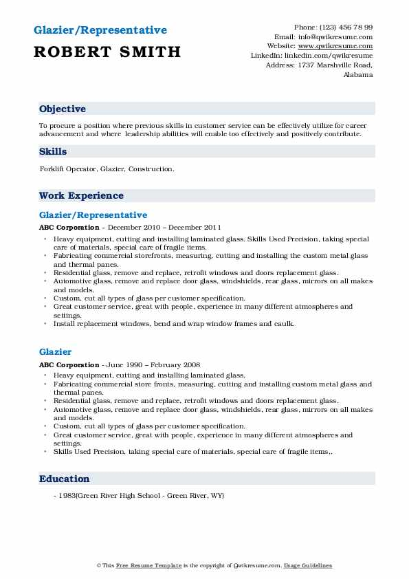 glazier resume samples qwikresume examples pdf crna engineering templates microsoft word Resume Glazier Resume Examples
