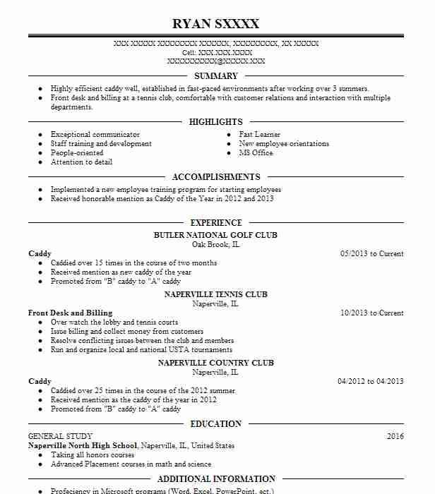 golf caddy resume example valhalla country club caddie job description for cleaning Resume Caddie Job Description For Resume