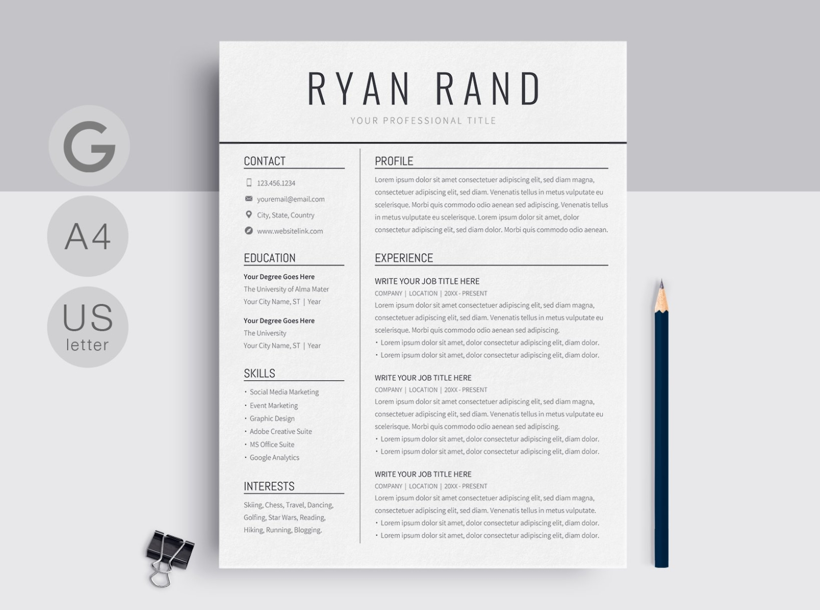 google docs resume template by templates on dribbble best some examples of skills for Resume Best Resume Templates Google Docs