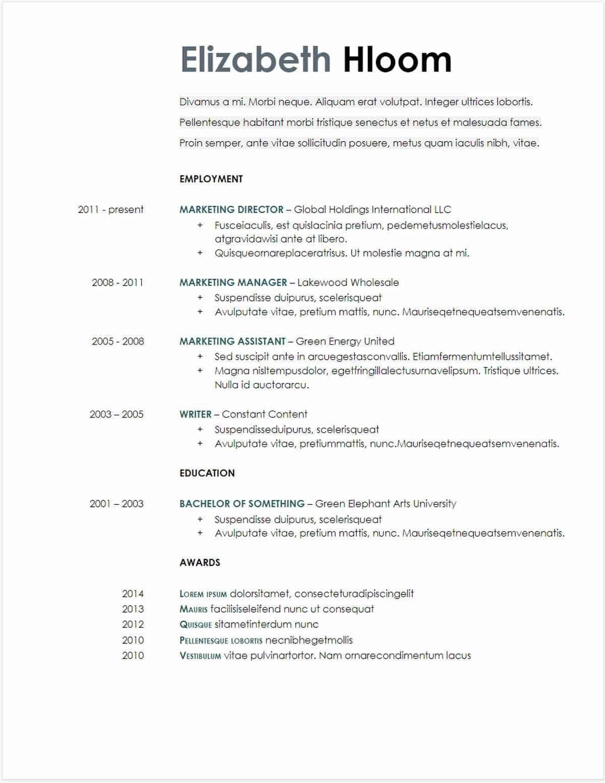 google docs resume templates downloadable pdfs making on blue side gdoc template free Resume Making A Resume On Google Docs