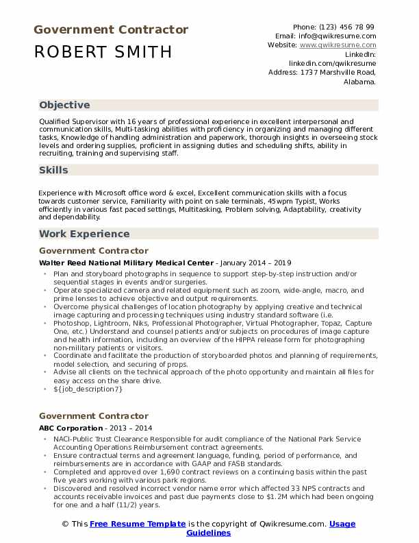 government contractor resume samples qwikresume federal example pdf on error next vba Resume Federal Government Resume Example