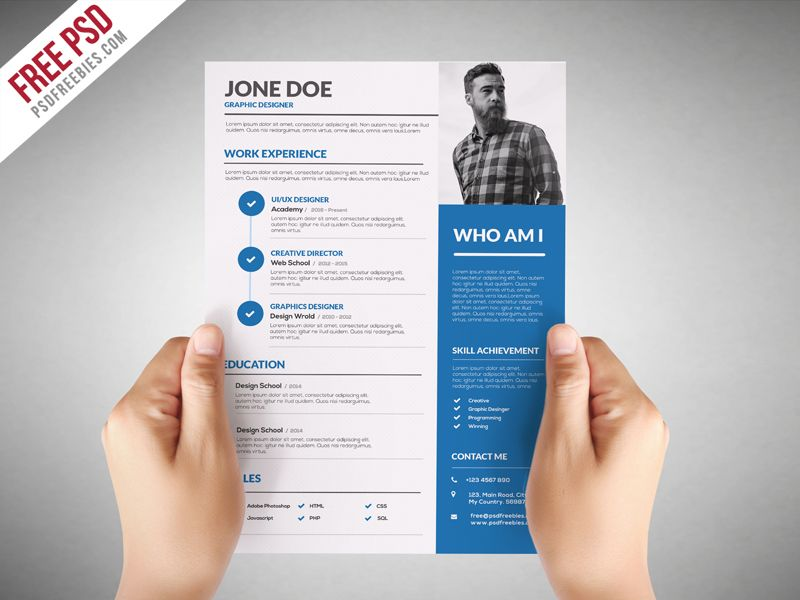 graphic designer resume template free psdfreebies design for baseball player samples Resume Resume For Graphic Designer Free Download