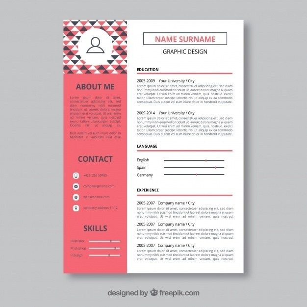 graphic designer resume template vector free design cv for high school rigger questions Resume Resume For Graphic Designer Free Download
