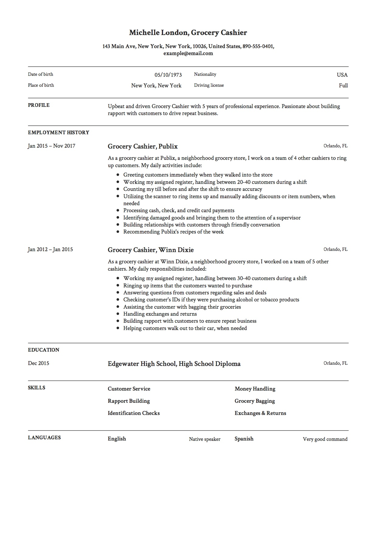 grocery cashier resume guide example pdf high school digital content writer auto mechanic Resume High School Cashier Resume