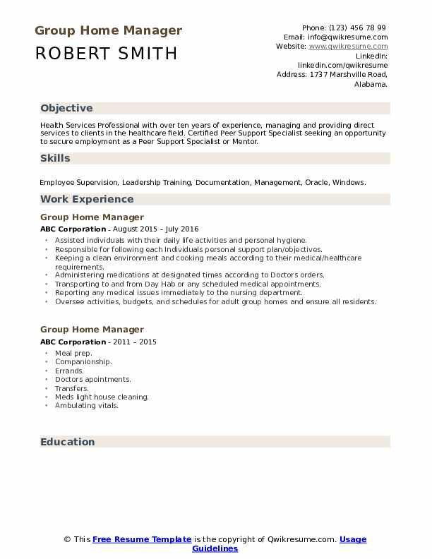 group home manager resume samples qwikresume sample pdf dtp short and engaging pitch Resume Group Home Manager Resume Sample