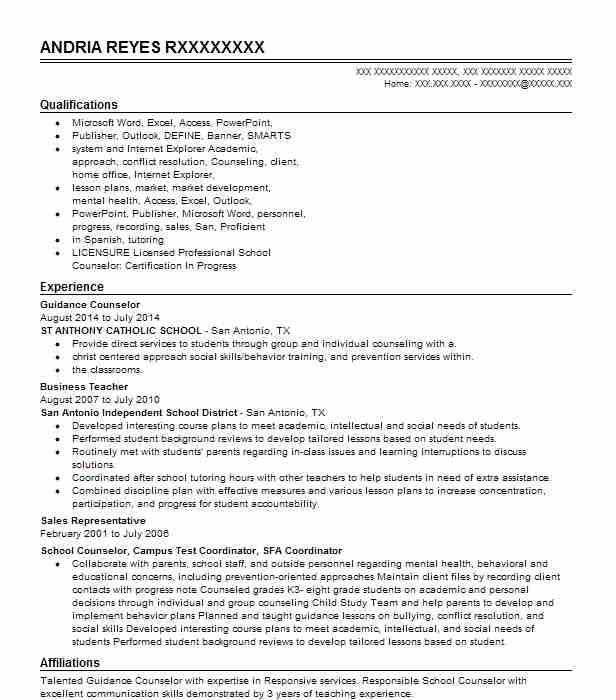 guidance counselor resume example teacher resumes livecareer samples best headline entry Resume Guidance Counselor Resume Samples