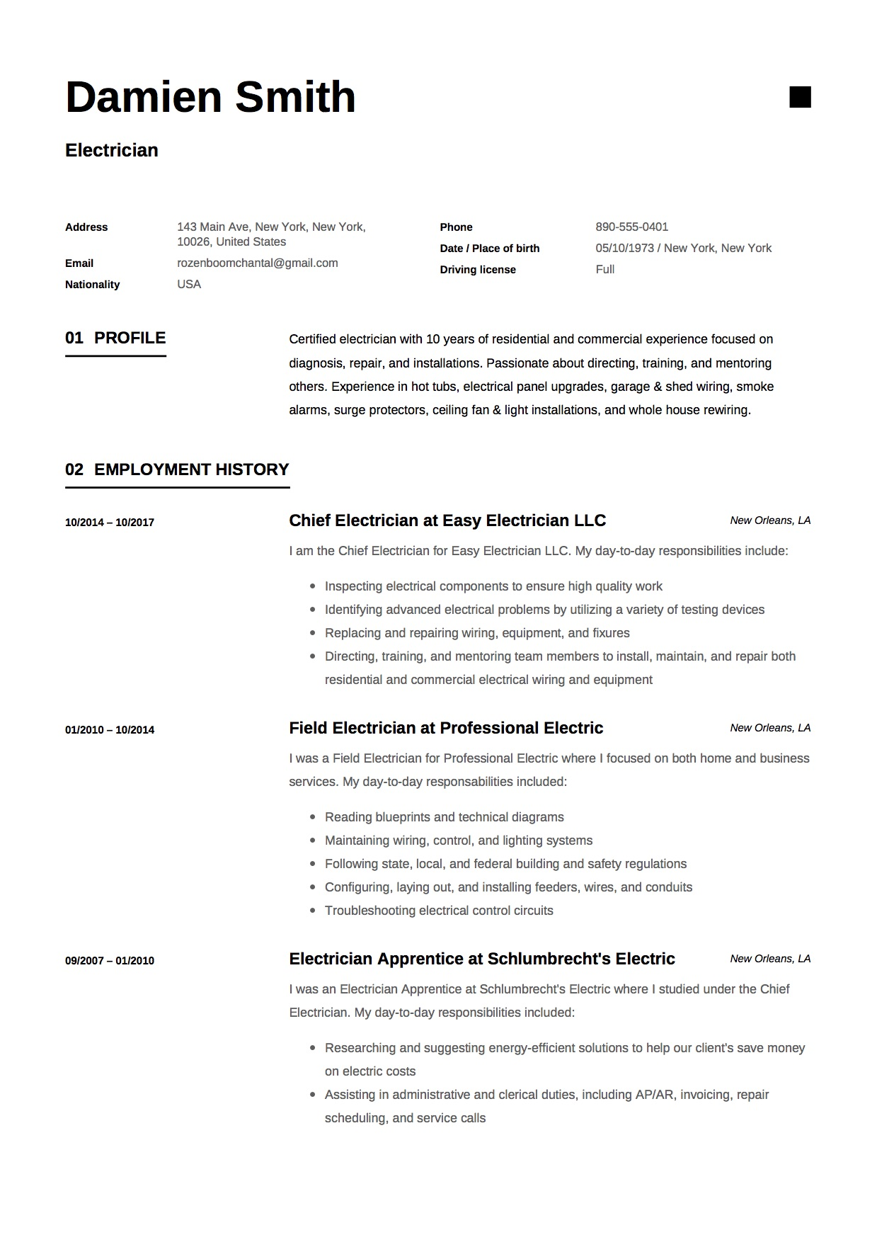 guide electrician resume samples examples pdf word foreman sample cv case help food Resume Electrician Foreman Resume