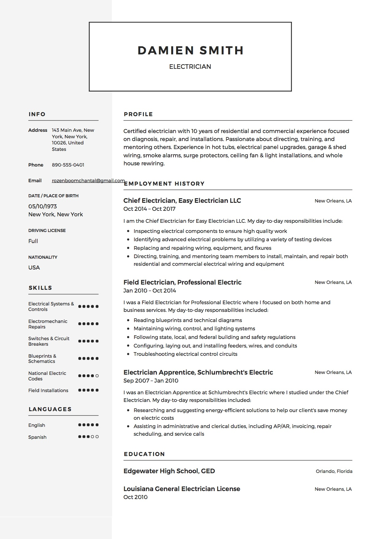 guide electrician resume samples examples pdf word journeyman example sample for school Resume Journeyman Electrician Resume