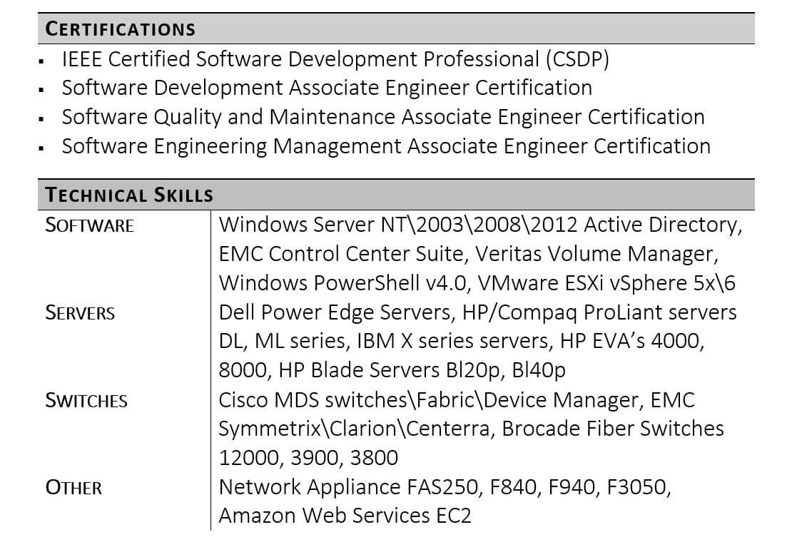 guide to technical skills on your resume capabilities sample example agile plm workshops Resume Resume Capabilities Sample