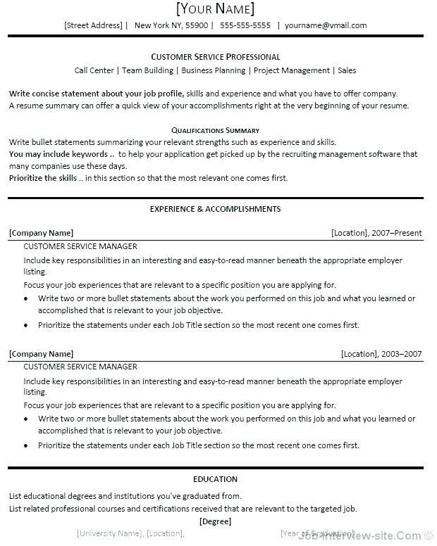 headline for resume fabulous title examples template professional customer service your Resume Headline For Your Resume Profile