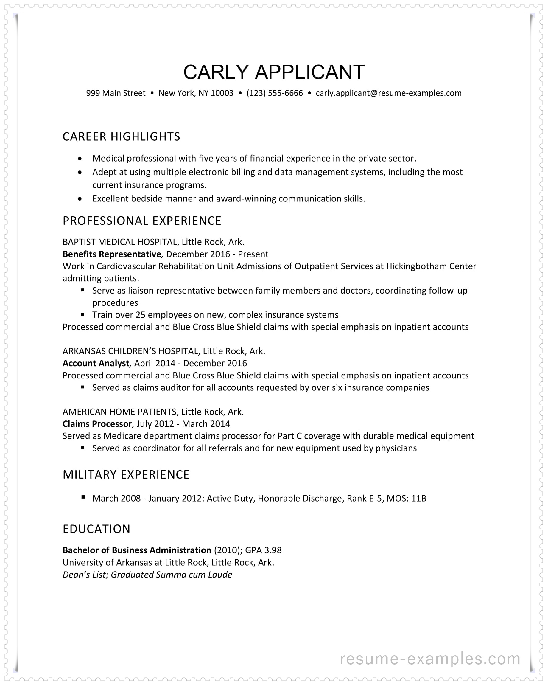 health insurance industry resume example in ms word format basic examples senior systems Resume Basic Resume Examples Word