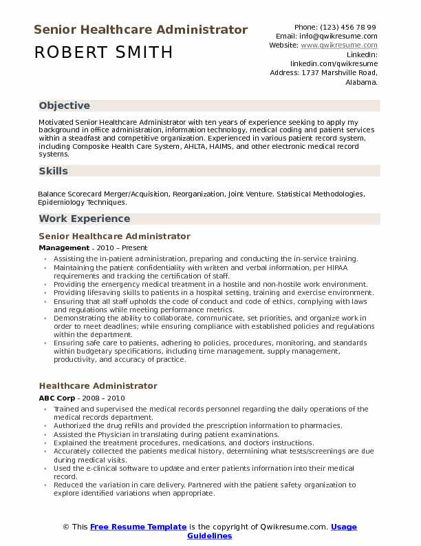 healthcare administrator resume samples qwikresume executive pdf medical physicist Resume Healthcare Executive Resume