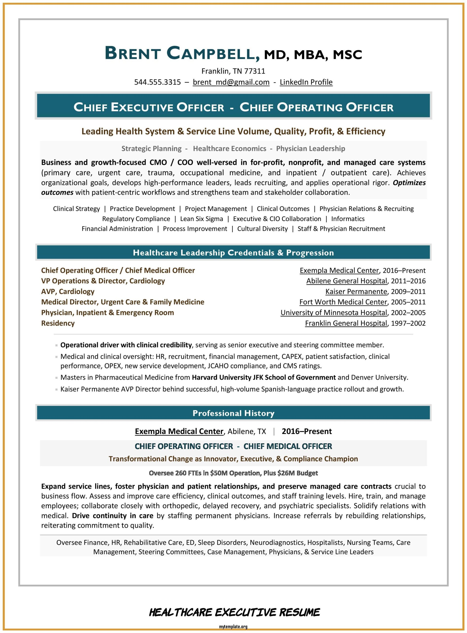 healthcare executive resume free templates of sample ceo and cmo pin respiratory Resume Healthcare Executive Resume