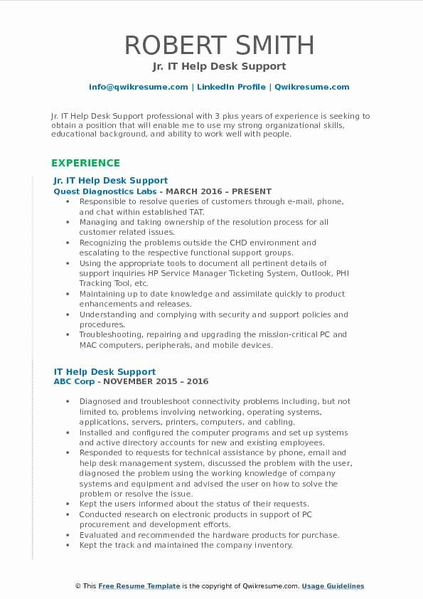 help desk job description resume lovely it support samples examples summary objective Resume Help Desk Resume Summary
