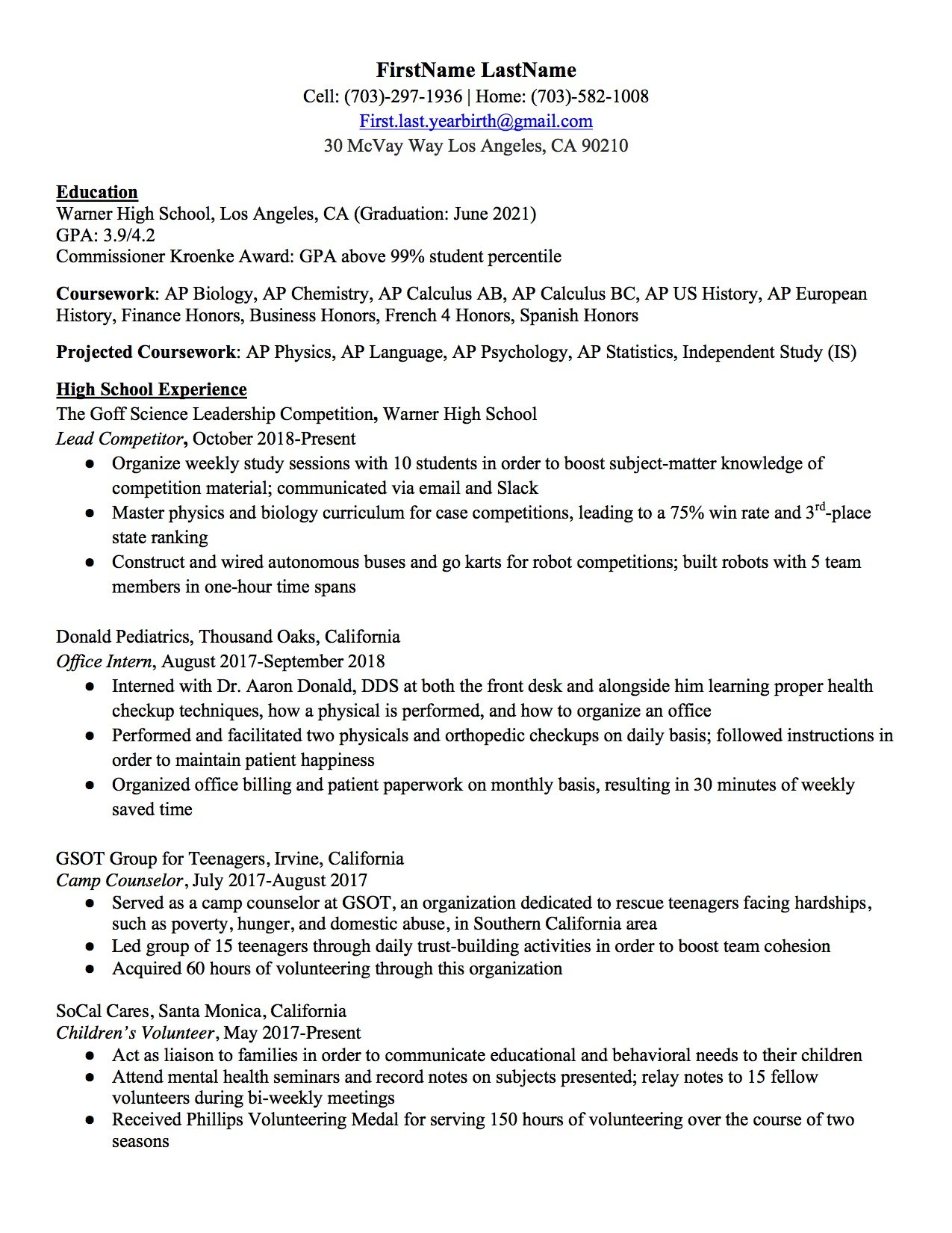 high school resume to write the best one templates included professional free for mac Resume Professional High School Resume