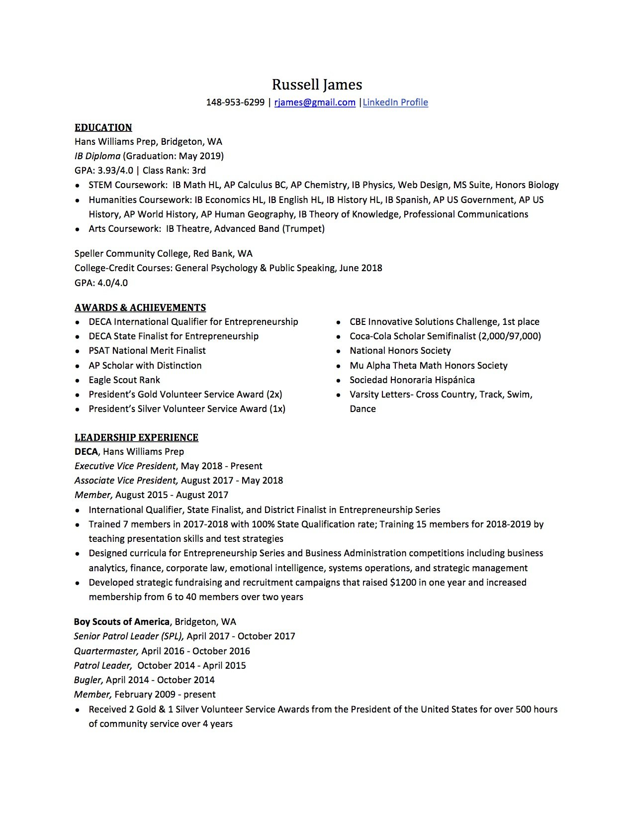 high school resume to write the best one templates included professional template Resume Professional High School Resume