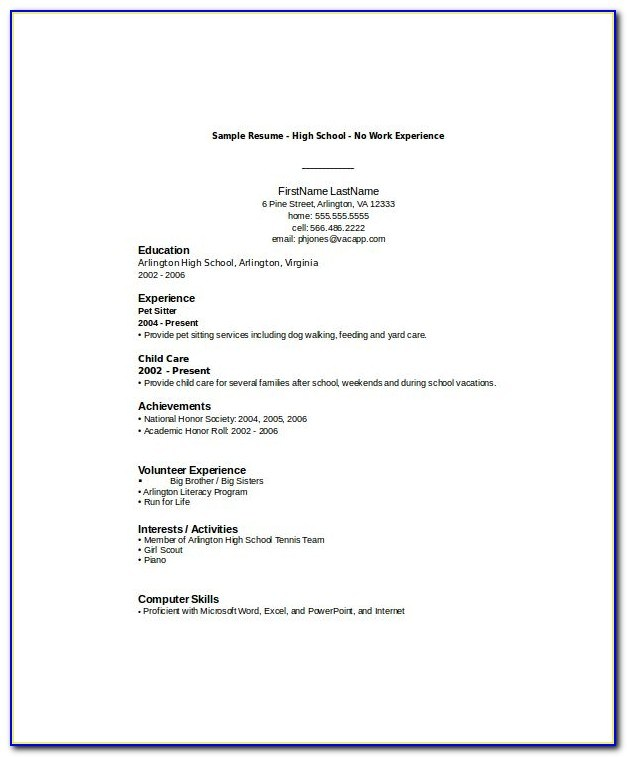 high school student resume template free word pdf documents throughout templates for Resume Best Resume Templates For Students