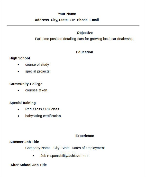 high school student resume templates pdf free premium blank template for students Resume Blank Resume Template For High School Students