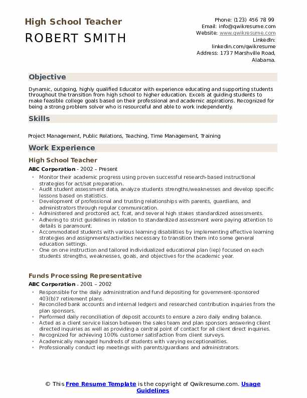 high school teacher resume samples qwikresume professional pdf graduate assistant sample Resume Professional High School Resume