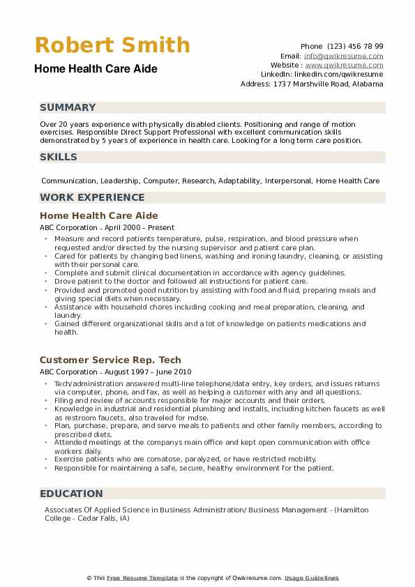 home health care aide resume samples qwikresume pdf dog daycare example customer service Resume Home Health Care Resume