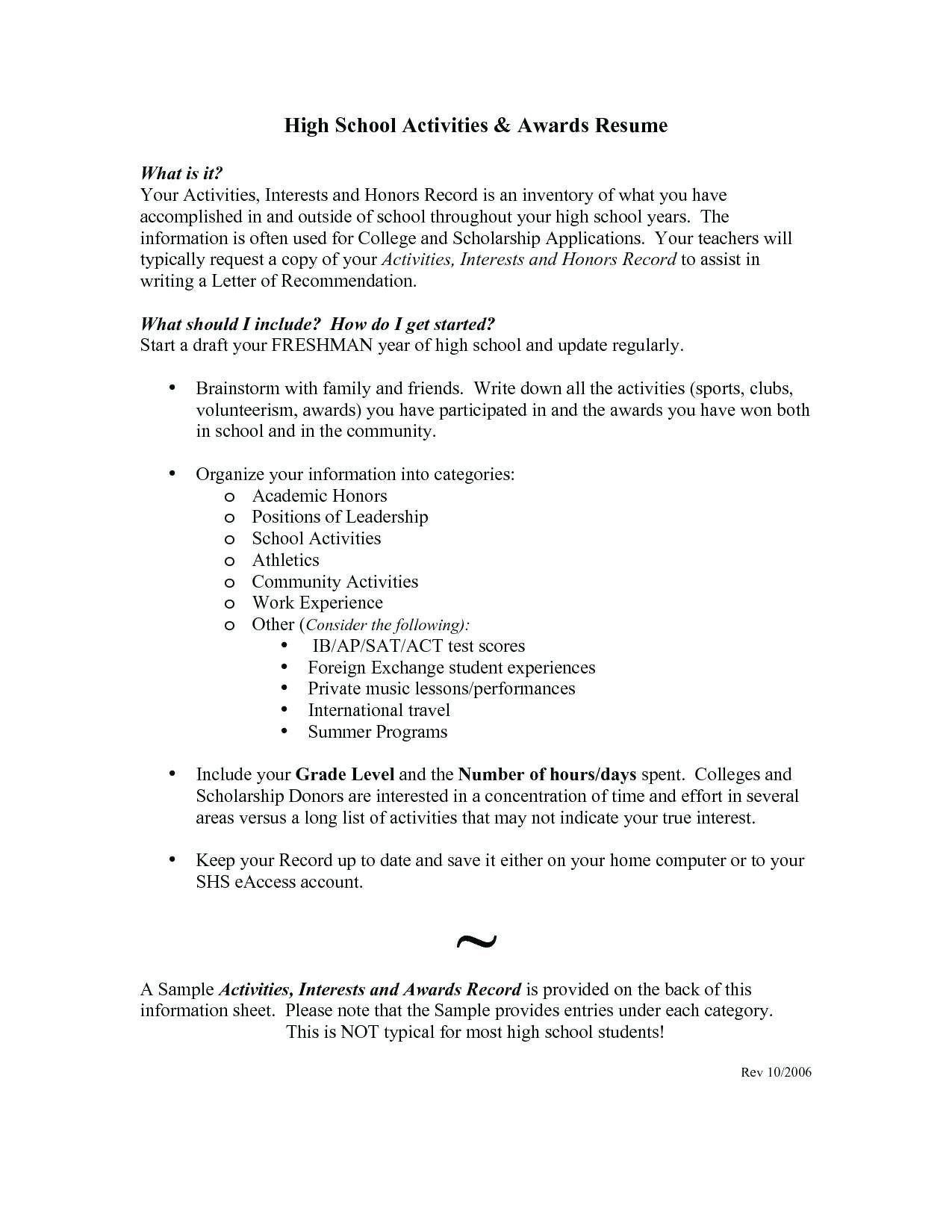 honors and awards resume examples unique model example best skills for re high school Resume Honors And Awards Resume Examples