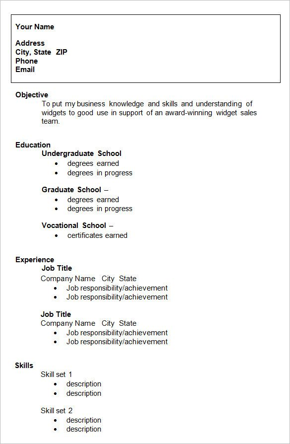 hopemontessori info resume template for college students high school sample application Resume College Resume Examples 2020