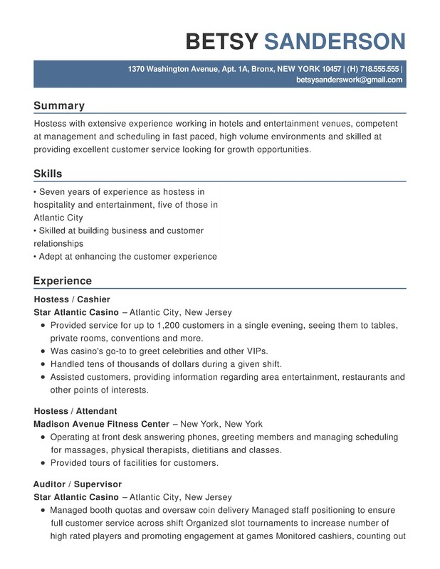 hotel hospitality functional resume samples examples format templates help for industry Resume Resume Format For Hospitality Industry