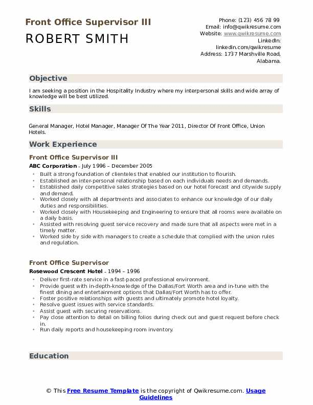 hotel manager resume samples qwikresume management sample front office supervisor pdf Resume Hotel Management Resume Sample