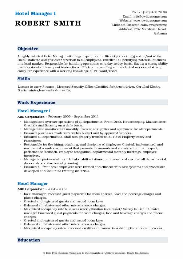 hotel manager resume samples qwikresume management sample pdf vmware externship on Resume Hotel Management Resume Sample