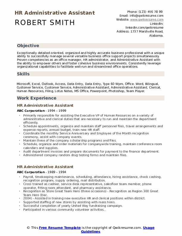 hr administrative assistant resume samples qwikresume examples pdf health care worker Resume Administrative Assistant Resume Examples 2020