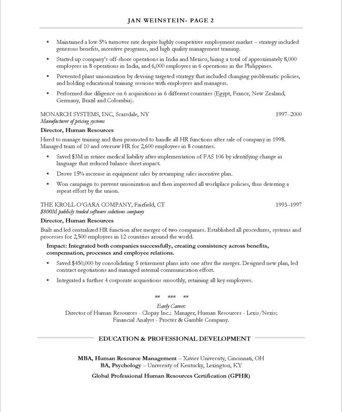 hr executive free resume samples blue sky resumes human resources 24after debt collector Resume Executive Human Resources Resume Samples
