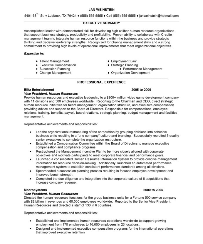 hr executive free resume samples blue sky resumes human resources 24before personal Resume Executive Human Resources Resume Samples