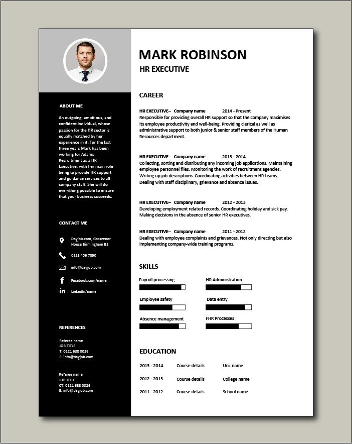 hr executive resume human resources sample example jobs talent employees skills samples Resume Executive Human Resources Resume Samples