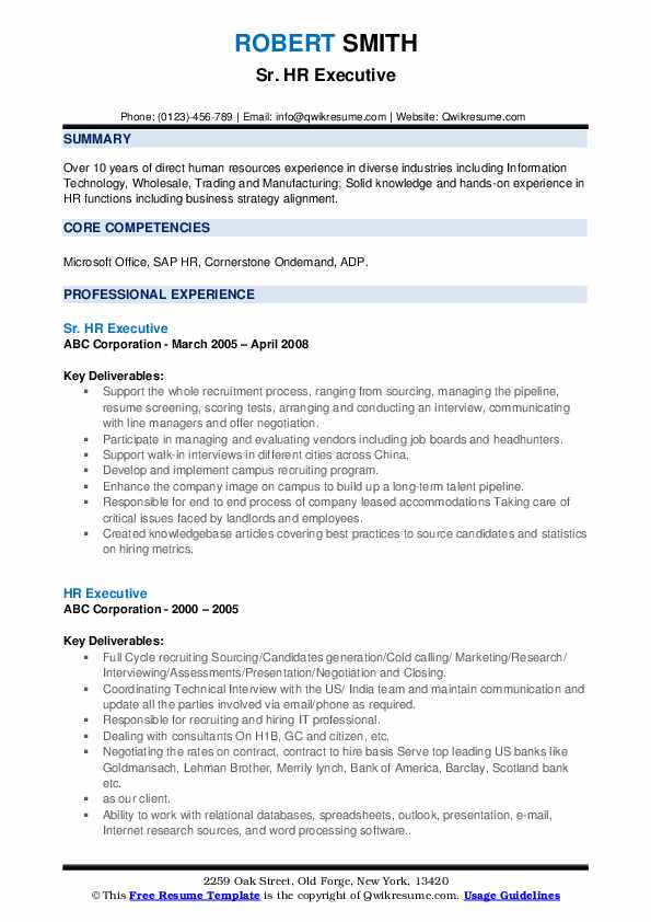 hr executive resume samples qwikresume human resources pdf highway supervisor filled out Resume Executive Human Resources Resume Samples