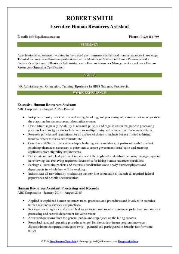 human resources assistant resume samples qwikresume template pdf home remodeling sample Resume Human Resources Assistant Resume Template