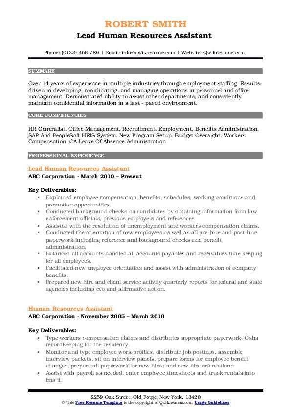human resources assistant resume samples qwikresume template pdf licensing coordinator Resume Human Resources Assistant Resume Template