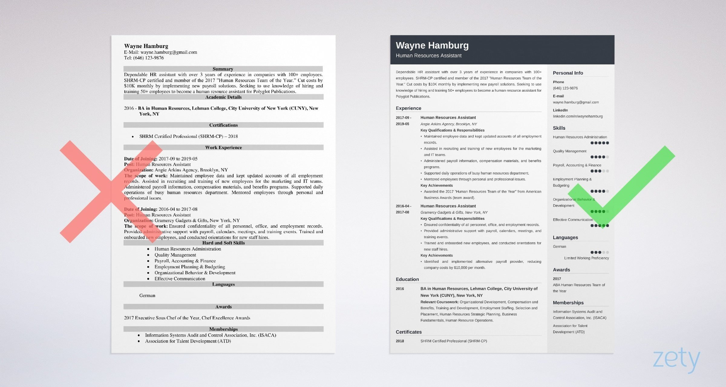 human resources hr assistant resume sample skills template example3 house keeper Resume Human Resources Assistant Resume Template