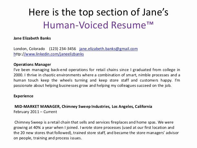 human voiced resume example unique here is the top section examples teacher jr Resume Human Voiced Resume Example