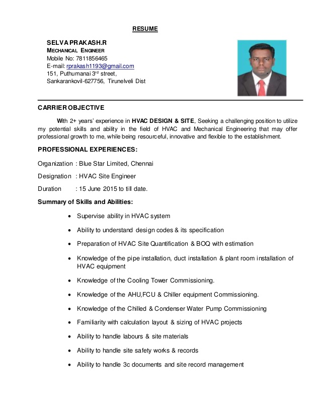 hvac engineer resume for sample nurses with experience faculty executive assistant Resume Hvac Engineer Resume For Gulf