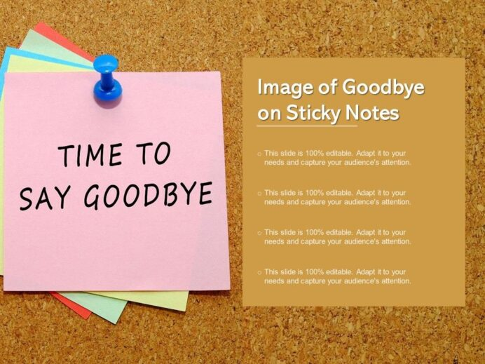 image of goodbye on sticky notes templates powerpoint presentation slides template Resume Sticky Note Resume Template