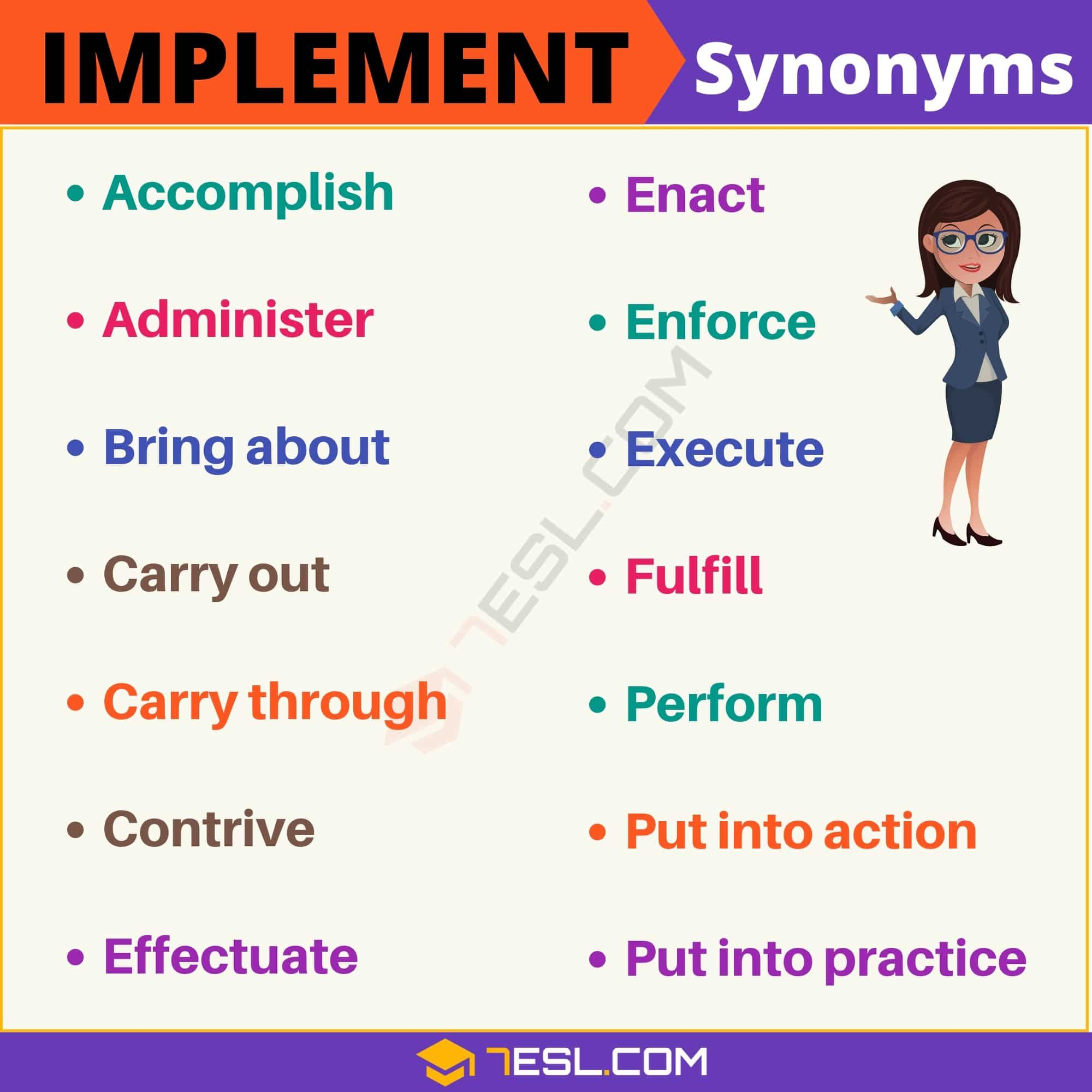 implement synonym of synonyms for with useful examples essay writing skills words Resume Implement Synonym Resume
